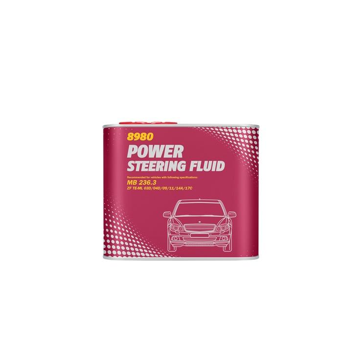 Жидкость для центрально гидравлики и гидроусилителя руля Mannol Power Steering Fluid 0.5l