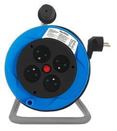 Qoltec Cable Reel 4 outlets 15m