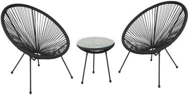 Комплект уличной мебели Home4you Como Black, 2 места
