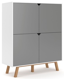 Vivaldi Meble Tokio TK3 Chest Of Drawers White/Grey Mat