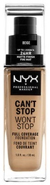 NYX Can't Stop Won't Stop Full Coverage Foundation 30ml Beige