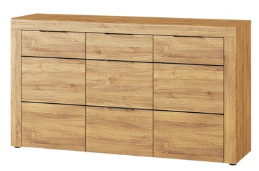 Szynaka Meble Kama 45 Chest Of Drawers Camargue Oak/Black Matt