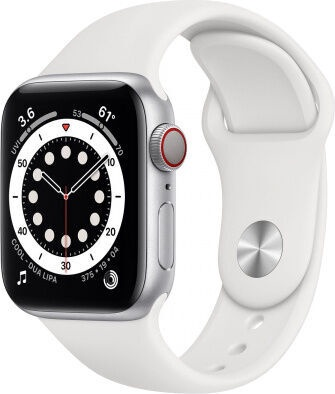 Apple Watch Series 6 GPS 40mm LTE Silver Aluminum White Sport Band