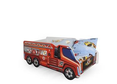 Vaikiška lova Halmar Fire Truck, 148x74 cm