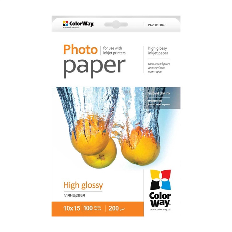 ColorWay Photo Paper A6 200 High Glossy 100 Pages