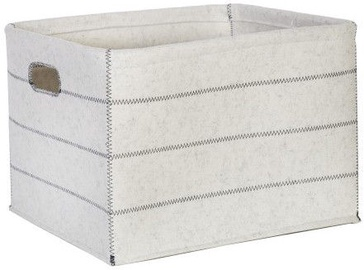 Home4you Basket Max Felt 3 38x28xH24cm White