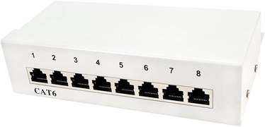 LogiLink Patch Panel Desktop CAT6 8-port Shielded White