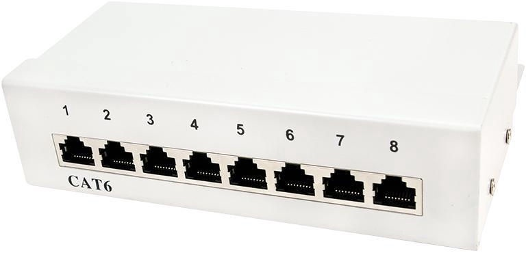 Lülitusseade LogiLink Patch Panel Desktop CAT6 8-port Shielded White