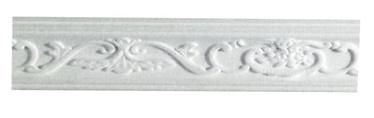 Lubų apdailos juostelės B-6, balta, 200 x 5.3 cm