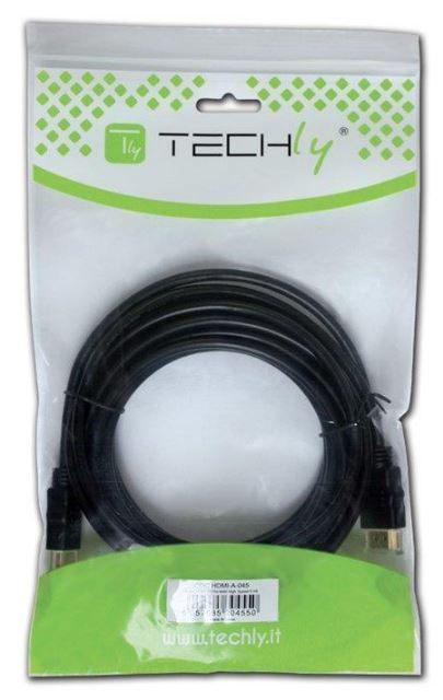 Techly Monitor Cable HDMI to HDMI Black 5m