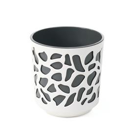Вазон SN Duet Indoor Plant Pot 25.5x27cm White Grey