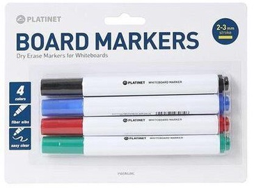 Platinet PWDM4MC Board Markers 4pcs