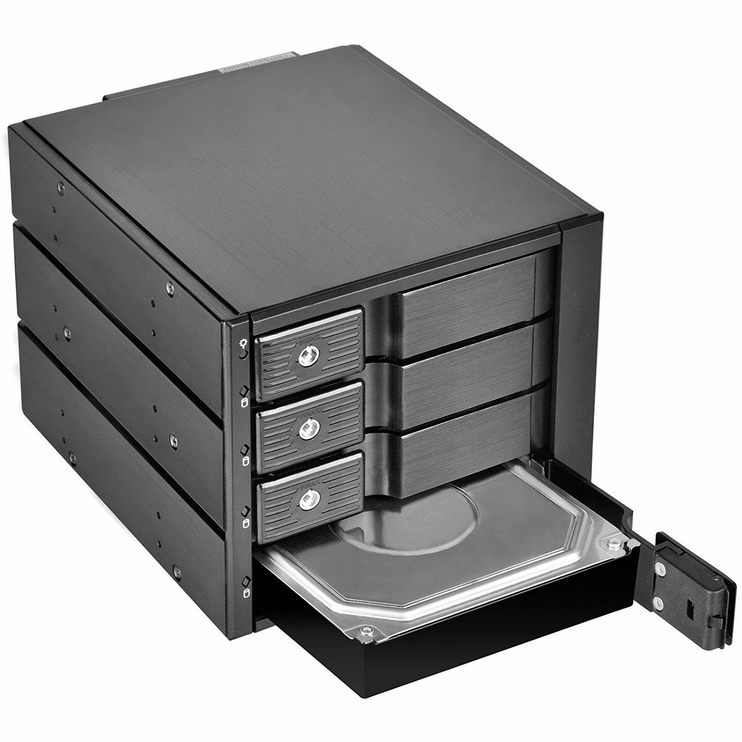 "SilverStone Hot Swap Case FS304 3x 5.25"" For 4x 3.5"" HDD/SSD"