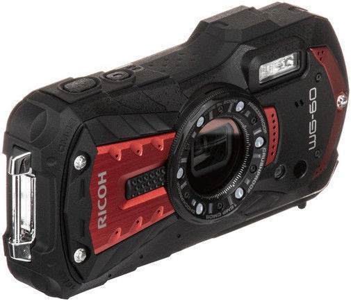 Ricoh WG-60 Red with Etui/Wrist Band
