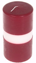 Verners Cylinder Candle 10x25cm Red/White