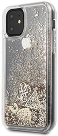 Guess Glitter Hearts Back Case For Apple iPhone 11 Gold