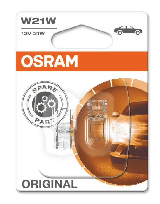Автомобильная лампочка Osram W21W 21W 12V W3X16D 7505-02B