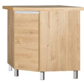 Bodzio Monia Kitchen Corner Cabinet Lower With Swivel Basket Dark Soma Oak