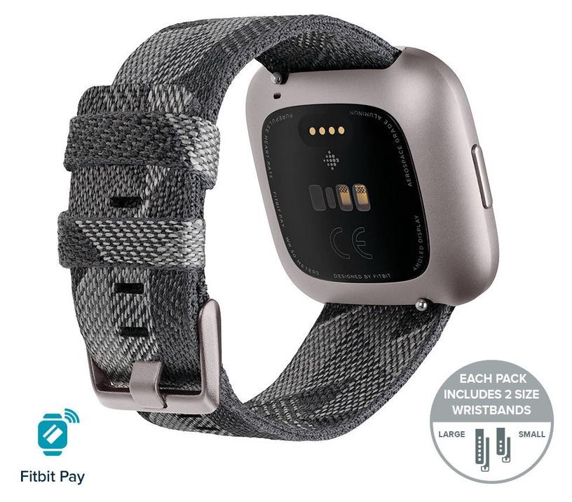 Išmanusis laikrodis Fitbit Versa 2 Special Edition Smoke Woven Mist Grey Aluminum