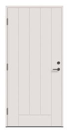 Lauko durys Viljandi Cello 02, baltos, kairinės, 209x89 cm