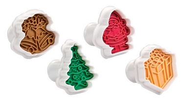 Tescoma Delicia Cookie Cutters With Stamp 4pcs