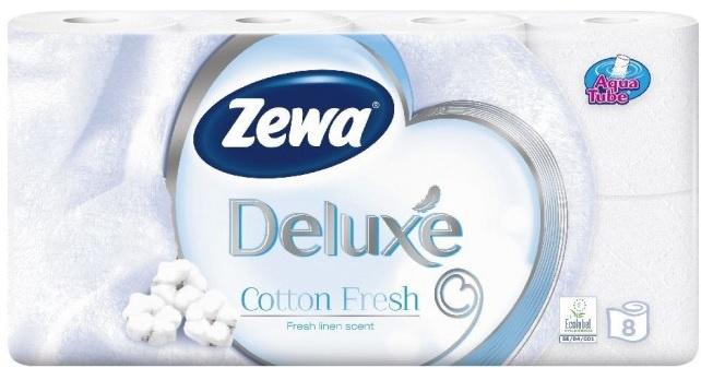 Tualetinis popierius Zewa Deluxe Cotton Fresh, 8 vnt.