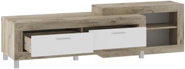Tuckano Ultra TV Stand 1950x520x520mm Oak/White