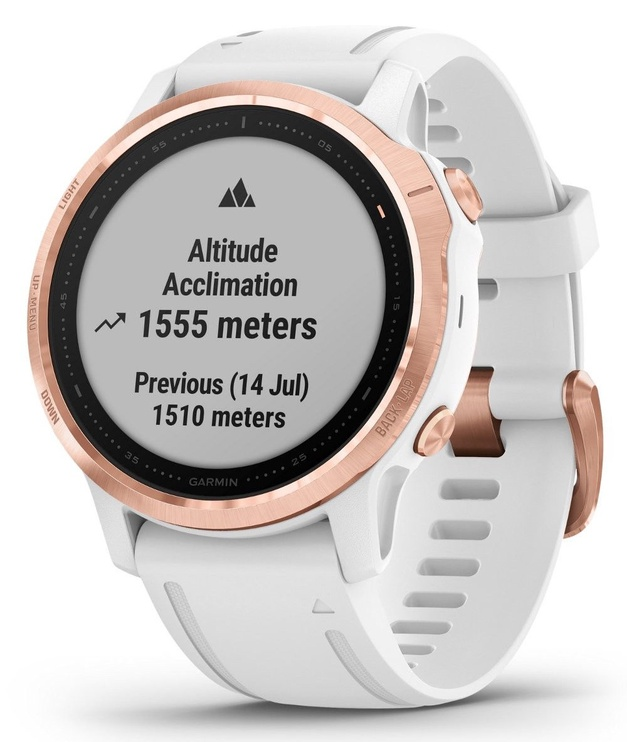 Garmin Fenix 6S PRO Rose Gold with White Band with Maps Musuc