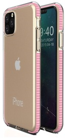 TakeMe Transparent Back Case With Color Frame For Apple iPhone 11 Pro Max Light Pink