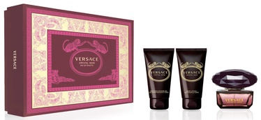 Набор для женщин Versace Crystal Noir 50 ml EDT + 50 ml Shower Gel + 50 ml Body Lotion 2019
