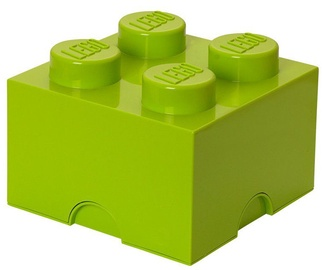LEGO Storage Brick 4 Knobs Medium Light Green