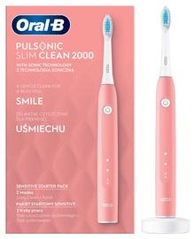Braun Oral-B Pulsonic Slim Clean 2000 Electric Toothbrush Pink