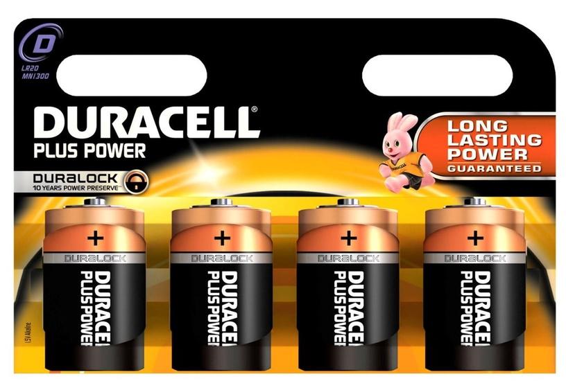 Duracell Plus Power D Alkaline Battery 4pcs