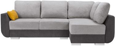 Black Red White Largo Lux 3DL.RECMU Corner Sofa Grey/Yellow