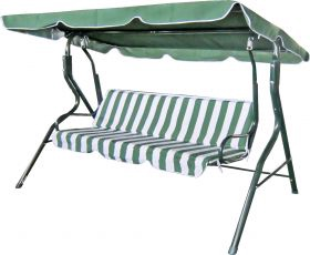 Sodo sūpynės Besk Canopy Green/White, 1180 x 1700 x 1560 mm