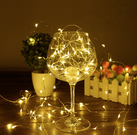 Elektriskā virtene Christmas Touch XY-BL2-20B, 20 LED, silti balta, 2 m