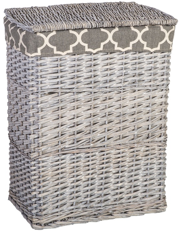 Home4you Laundry Basket Max 1 45x33xH59cm Grey