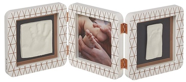 Baby Art Double Print Frame My baby Touch Copper Edition White