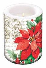 Paw Decor Collection Stylish Poinsettia Candle