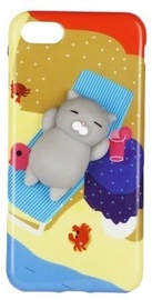 Mocco 4D Cat Back Case For Huawei Mate 10 Lite Grey Cat