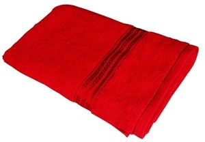 Verners Frotee Wick Pattern 70x140cm Red