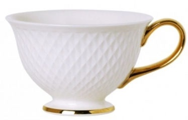 Quality Ceramic E Clat Gold Cup 20cl