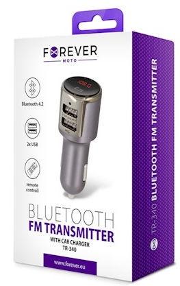 Forever TR-340 Bluetooth FM Transmitter Black