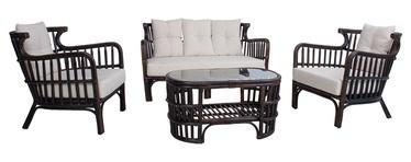 Dzīvojamās istabas mēbeļu komplekts Home4you Hampton 42062, brūna