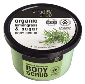 Organic Shop Body Scrub 250ml Provence Lemongrass