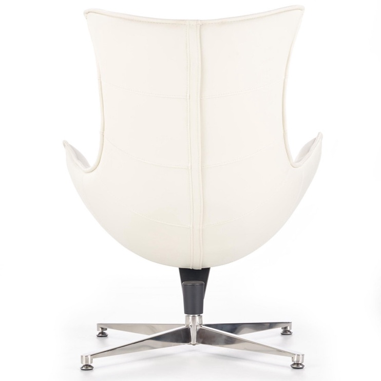 Fotelis Halmar Luxor White, 84x86x96 cm