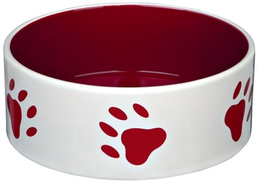 Trixie Ceramic Bowl With Paw Prints 300ml