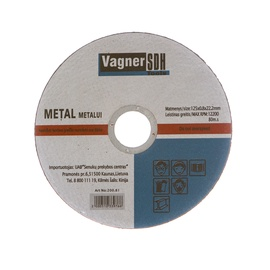Vagner SDH Metal Cutting Disc 200.81 125x0.8x22.23mm