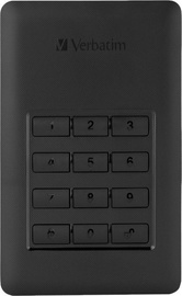 Verbatim Store 'n' Go Secure G1 Portable HDD w/ Keypad Access 256GB