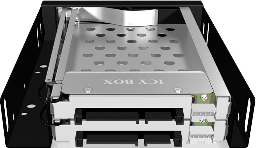 ICY BOX IB-2227StS 3.5'' Mobile Rack for 2x 2.5'' SATA HDD/SSD